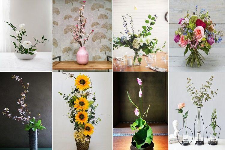 Có nhiều sự lựa chọn để cắm hoa và tạo nên 1 sản phẩm hoàn chỉnh, đẹp mắt