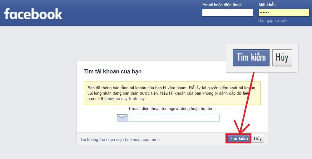 làm sao để lấy lại mật khẩu facebook khi quên