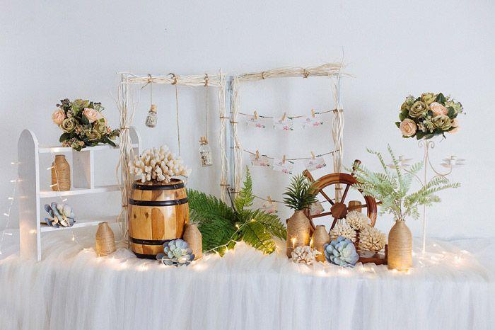 Trang trí tiệc cưới tại nhà với không gian ấm cúng