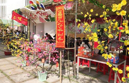 Với ý nghĩa hoa mai tích cực, thị trường hoa mai mỗi dịp tết đến xuân về khá rôm rả