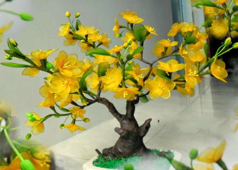Cách làm cây hoa mai