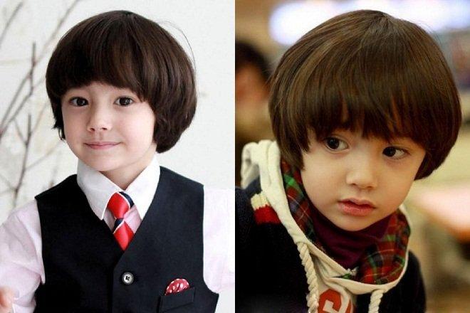 kiểu tóc cho bé trai